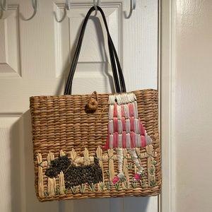 💝 Woven Scottie dog purse